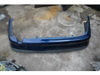 1999 Toyota Avensis - BLUE - REAR Back Bumper .Used in good condition.
