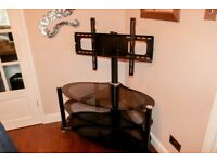 Large Oval Glass TV stand. Fit TV upto 50inch.