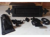 Front door furniture set (black)