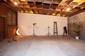 Photography, Film, Video, Event studio space £100 day hire N London art casting location warehouse