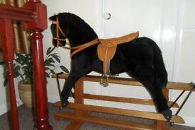 Pegasus Black Rocking Horse