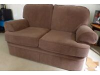 Two 2-seater Mocha Brown Sofas and an armchair. Marks and Spencer. Immaculate