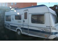 Touring Caravan 19ft Fendt 4 berth, fixed beds, excellent condition, must be seen. 2006