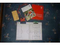 football tactics board plus F.A books
