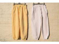 """x2 Ladies Sm Authentic Elasticated Jogging / Sweat Pants / Bottoms W26"""" & L25"""""""