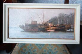 Superb Marine oil on canvas signed Peter Archer