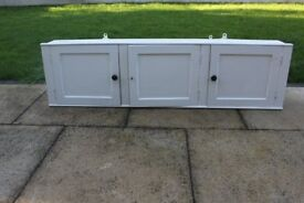 Old painted wooden cupboard