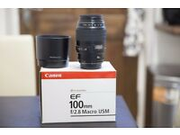 Canon 100mm f/2.8 Macro lense/Hoya filter