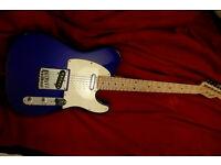 FENDER TELECASTER MIDNIGHT BLUE maple neck electric guitar squier guitar