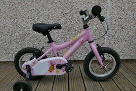 Ridgeback Minny 12in wheel bike with stabilisers