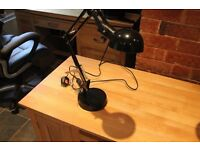 Angle poise desk lamp