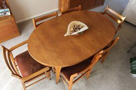 Jentique Dining Table & 6 Chairs