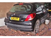 Peugeot 207 Black colour, 5 doors, Breaking and selling for parts 2011 year,