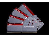 G.SKILL Trident Z F4-3200C14Q-64GTZ 64GB (4x16GB) DDR4 3200 MHz CL14 Kit