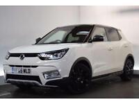 SSANGYONG TIVOLI 1.6 ELX [SAT NAV/LEATHER] 5d AUTO 113 BHP (white) 2015