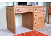 DELIVERY OPTIONS -TOP QUALITY MADE SOLID PINE WRITING DESK WITH LARGE DRAWERS