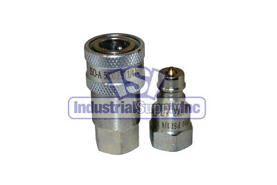 Quick Coupler Iso 7241-1 A 14 Npt Pipe Thread 6600 Series Complete Set