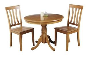 Kimberley Three Piece Dining Set In Oak