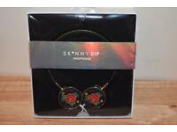 Skinny Dip Black Rose Headphones