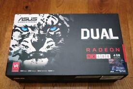 Asus RX480 DUAL FAN 4GB DDR5 with BOX RX 480