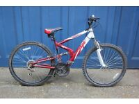 Apollo FS26 Ladies/Mens Full Dual Suspension Mountain Bike 18 Speed.