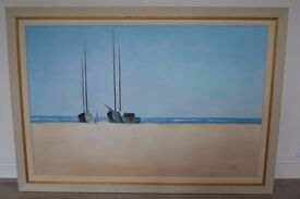 SEASCAPE OIL PAINTING,BEAUTIFULLY FRAMED,SIGNED.