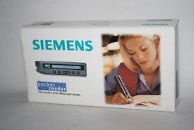 SIEMENS POCKET READER OCR PEN Retro Technology Reading Pen Boxed Instruction
