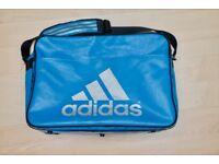 Adidas Mens Bag - Blue Three Stripe Japanese Import Laptop Vinyl Messenger Bag