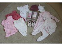 Newborn baby girl 0-3 month bundle - excellent condition