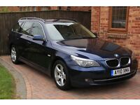 BMW 5 SERIES 520d SE Business Edition Touring, Blue with cream leather, 2 owners, immaculate, FSH
