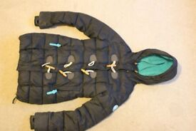 Teenage Girls XXS Superdry Duffel Coat Black with Blue lining