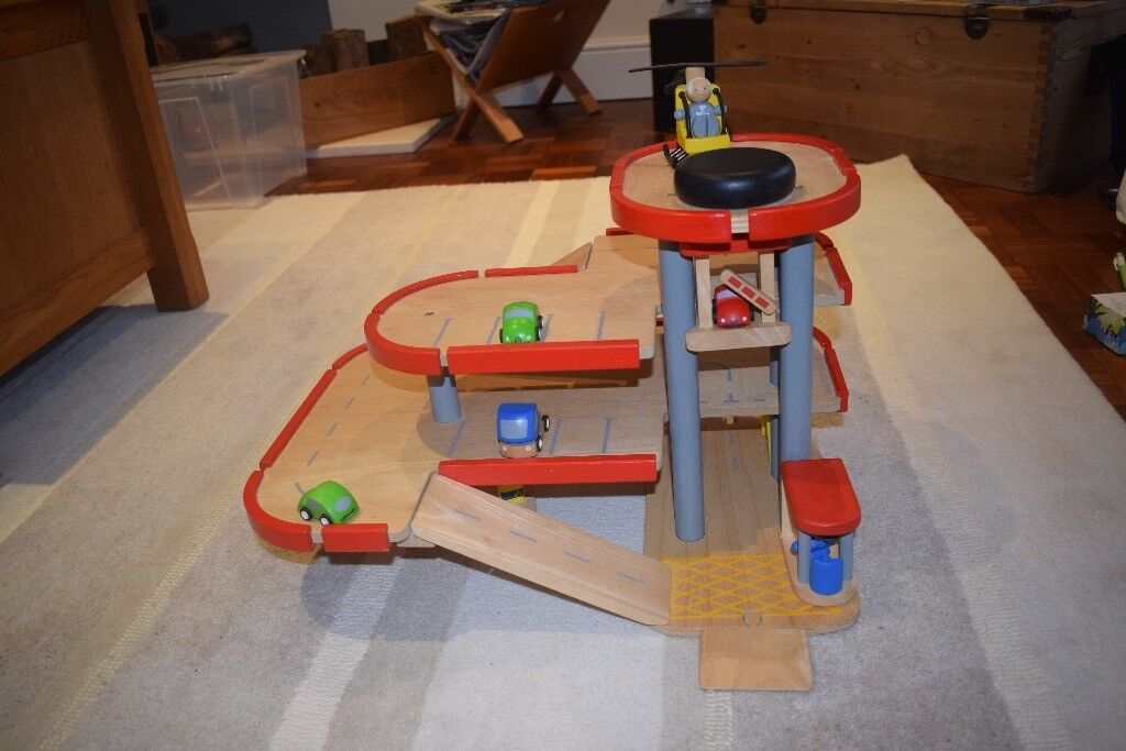 Wooden Car Park Garage Plan Toys – Plan Toys Car Garage