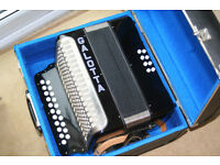 Galotta Accordian / Melodian in D/G. As new condition in tune and ready to play.