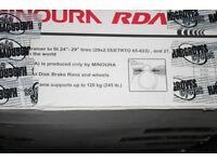 MINOURA RIM DRIVE TRAINER RDA2429 PLUS CYCLEOPS POWER CLIMBING BLOCK
