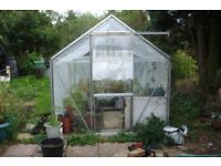 Aluminium greenhouse 6 x 6