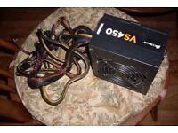 Corsair VS450 80+ PSU Power Supply £20. 6 PIN PCIE 8 PIN PCIE 4+4 PIN EPS 4 SATA 4 MOLEX