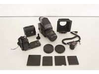 Bronica SQ-Ai Medium Format Camera + Zenzanon PS 110mm Lens + AE Finder + Accessories