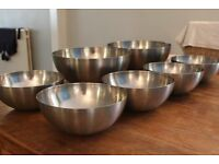 Variety of Metal Ikea Serving Bowls