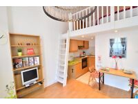 Charming split level studio flat to rent in Kensington on a monthly basis