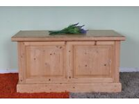 QUALITY MADE SOLID PINE BLANKET BOX LIGHT COLOUR WAXED FINISH - UK WIDE DELIVER