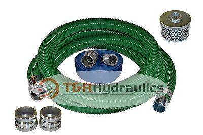 2 X 20 Hd Trash Pump Superflex Complete Hose Kit W 50 Blue Discharge Hose