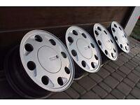 "14"" VW TEARDROPS alloys wheels lupo golf UP lupo inca caddy arosa 4x100 astra corsa civic nova yaris"
