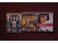 ps3 playstation games bundles: borderlands, mirror's edge, army of two
