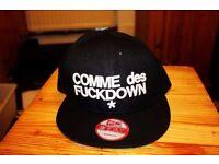 New ERA Black Commes Des Fuck Down Snapback Hat Cap: Trapstar Unisex. ASAP Rocky NWOT