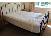 Black wrought iron bed and super quality mattress