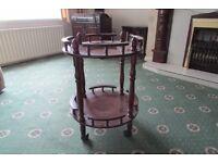 Small vintage mahogany round table