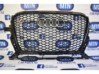 AUDI RSQ5 FRONT GRILL BLACK GLOSS 8R MODEL FACELIFT FITS 2012 - 2017 MODELS