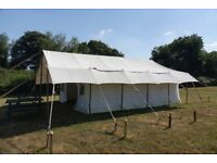 Large heavy duty canvas canvas safari tent.