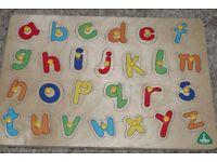 4 x ELC Baby Wooden Alphabet, Numbers, Shapes etc Boards