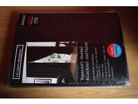 Supersoft Thermal Blackout Curtains 46 x 54 Inches Black - New - Sealed